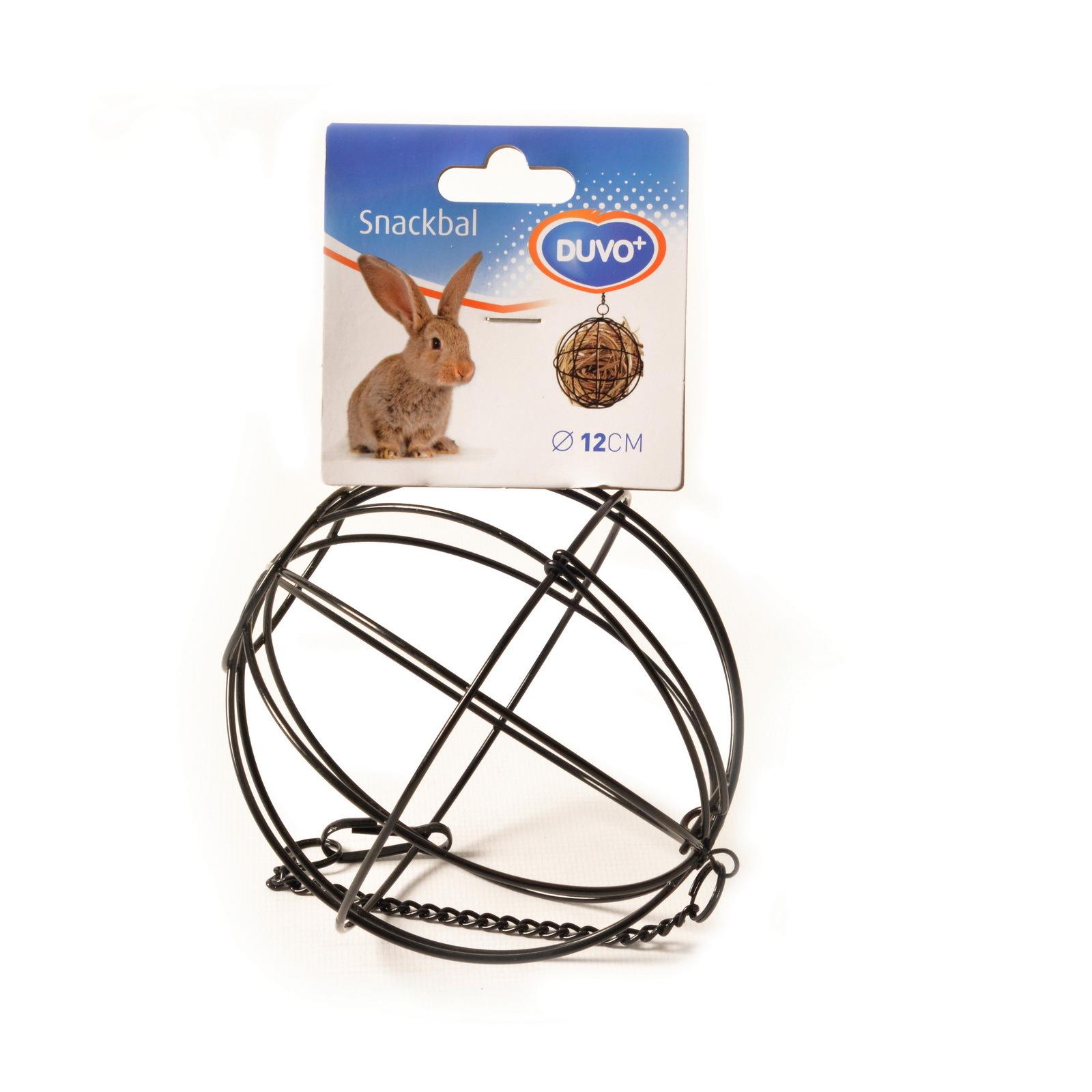 """кормушка для грызунов, металлическая duvo+ """"шар"""", чёрный, 12см (бельгия)"""