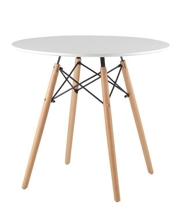 Стол обеденный Нераскладной круглый DSW, 80х80х72 см #1