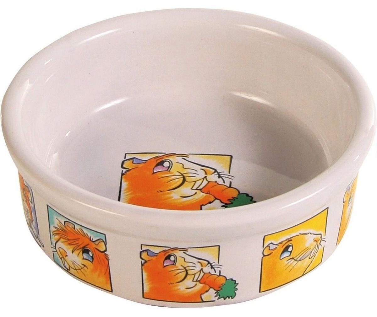 миска керамическая trixie для морской свинки. объем 300 мл. диаметр 11,5 см