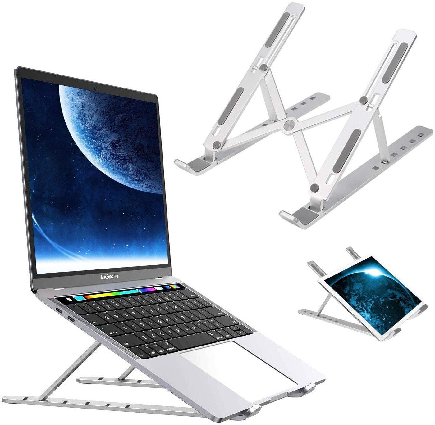 Складная переносная алюминиевая подставка для ноутбука с чехлом carnero electronics массажер подушка москва