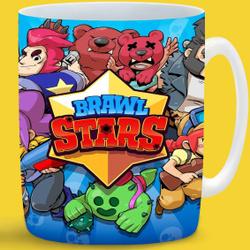 """Кружка CoolPodarok """"Brawl Stars все герои Браво старс"""", 330 мл. Вкусные скидки!"""