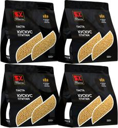Четыре упаковки пасты Пять Процентов Кускус Птитим 4*500 г. 5%