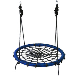 Качели гнездо паутинка IgraGrad 100 сине-черные. Хиты продаж